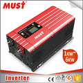 2018 MUST pure sine wave inverter 1000w 12vdc 24vdc to 230vac