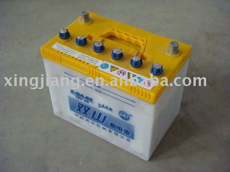6-QA-60AH dry charged storage battery,storage cell ,secondary cell