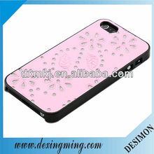 Smart Pink Sparkling Leather Wrap Case for iPhone 5