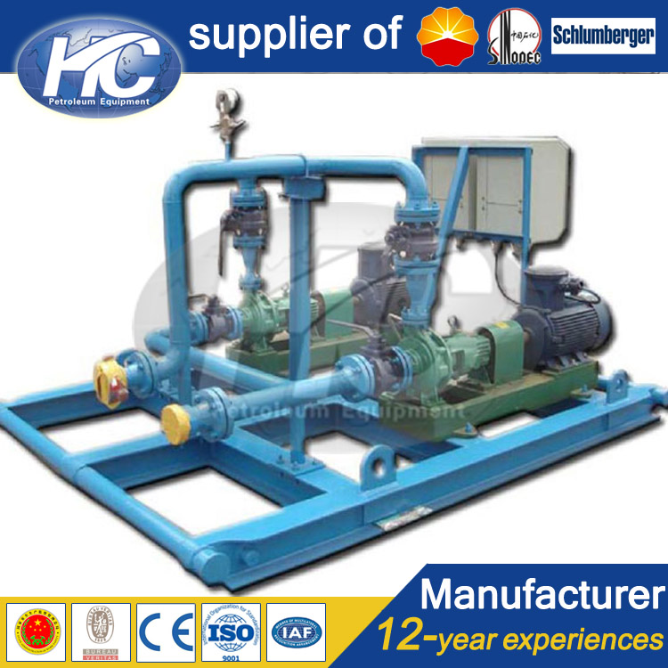 Surface welltest heavy fuel oil high/ low pressure transfer pump for oilfield equipment