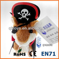 Record and repeat talking hamster toy wearing pirates costume