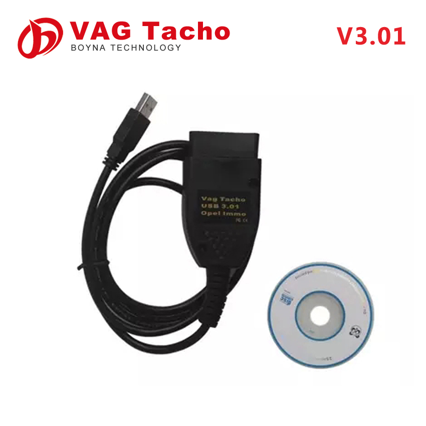 High quality Vag tacho 3.01 car diagnostic cable for Opel Immo Airbag