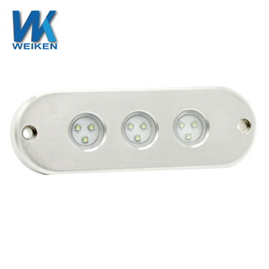 WEIKEN 45w rgb built-in drivers ip68 bluetooth phone app sailing yacht led mini light underwater