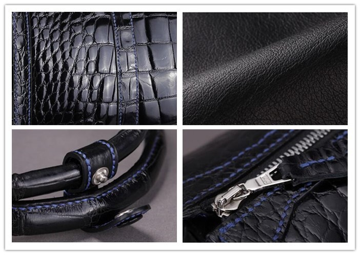 New Arrival OEM High End Luxury Genuine Crocodile Leather Duffle Bag for Men Travel Bag _09