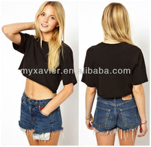 100% cotton clothing women, crop tops summer manufacturer(S4098)