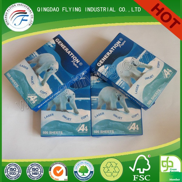 Multi-function 100% virgin wood pulp A4 80gsm copy paper