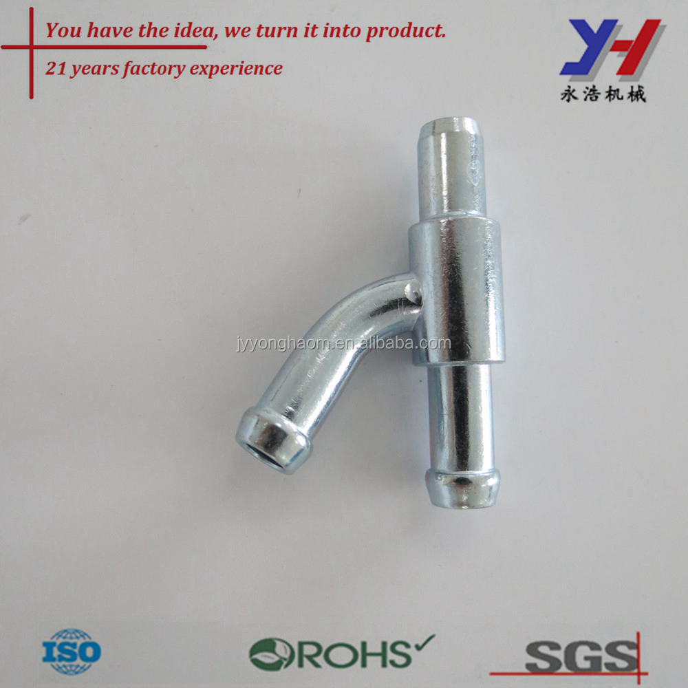 Custom pipe metal joint CNC machining universal adaptor