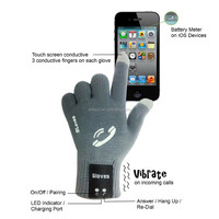 Fashion Unisex Knitted Gloves Touch Screen Bluetooth Mittens Hello Bluetooth Gloves Winter