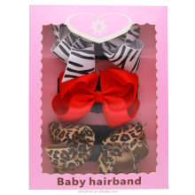 Fashion Baby Leopard Crochet Elastic Headband Girls Wide Cotton Headbands With Birthday Gifts