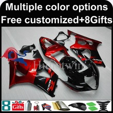red black motorcycle cowl for Suzuki GSX-R1000 2003-2004 03 04 GSXR1000 2003 2004 03-04 ABS Plastic Fairing