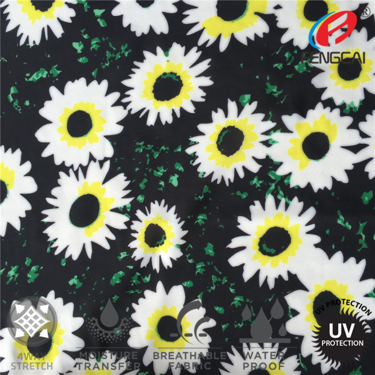 In-Stock 100% polyester Spandex Italy Printed Swimwear Fabric