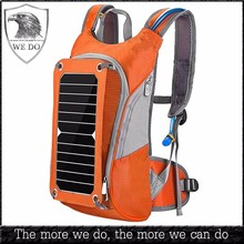 Solar Hiking Backpack with Hydration Bladder Water Reservoir Pack Water Bag