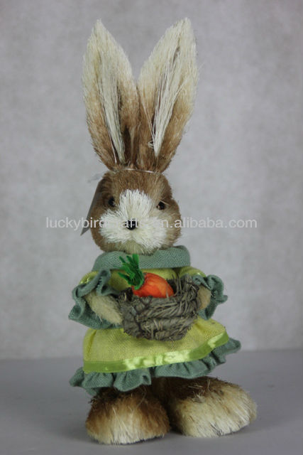 easer sisal rabbit for sale/ lovely easter ornaments