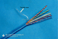 114. China good price Cat 6 utp/ftp/sftp/waterproof 100% non-oxygen copper 4 pairs twisted networkling cable