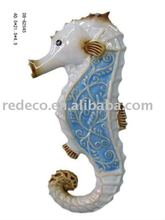 Sea horse wall hanging figurine