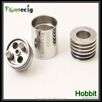 2015 new arrival wholesale 17mm dripper for 14500 MOD single/dual coils Hobbit rba rebuildable atomize