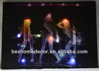 Sexy lady dancers in party bar led wall painting light, picture light, nude modern art