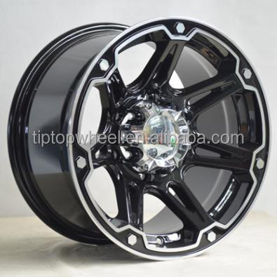 Hot style alloy wheel full silver full black wheel rim rines with 5 hole 6 hole selling for South America wheel market