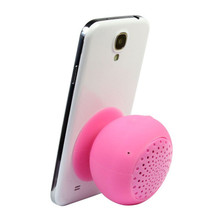 Wireless Audio Transmission Portable Cute Mushroom Design Sucker Silicone Bluetooth Speaker for iPhone,iPod,MP3 Player