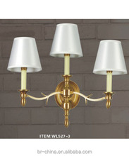 brass crystal wall lamp for living room/hotel WL527-3