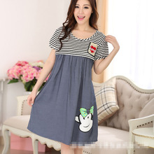 TP6012 100% Cotton Outdoor Breast Feeding Maternity Walking Dress