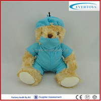 Wholesale Custom Stuffed Soft Plush doctor Teddy Bear Soft Toy With Animal Design