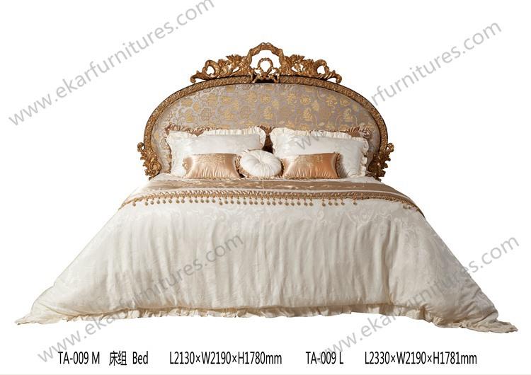 화려한 킹 사이즈 침대 ta-009 로코코 침대를 조각-침대 -상품 ID ...