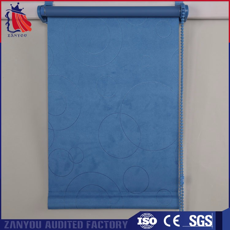 Factory price custom home room luxury fabric blackout soundproof roller blind