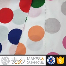 plain dyed lightweight cotton woven fabric with custom designed low moq colorful dots printed cotton blouse fabric