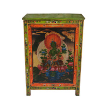 Chinese vintage reproduction furniture, Tibetan living room single door cabinet