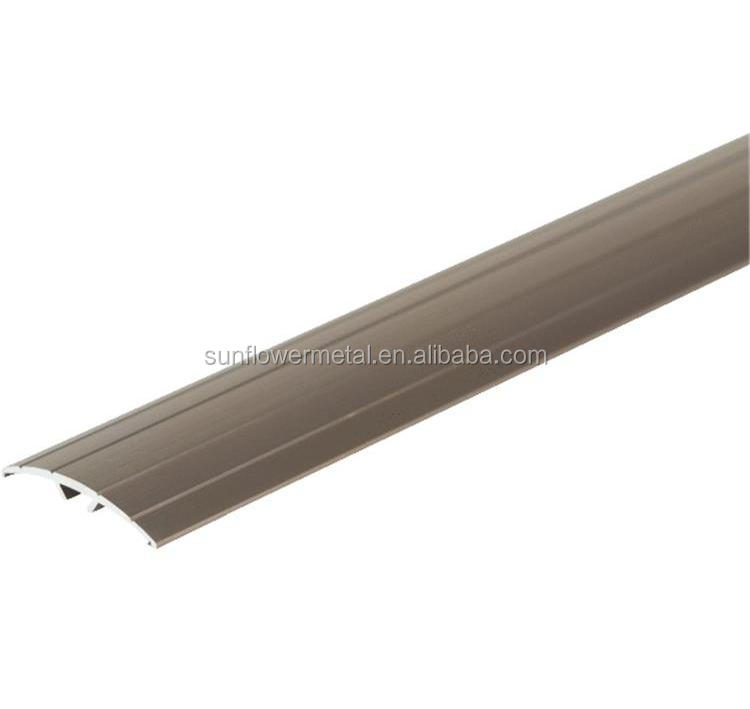 Low price silver anodized extruded aluminum floor transition