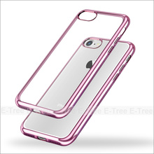 Mobile Phone Case electroplating bumper Clear Tpu Case for Iphone 7 cover