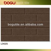 60x240mm red clay split tile, small size terrracotta wall tile