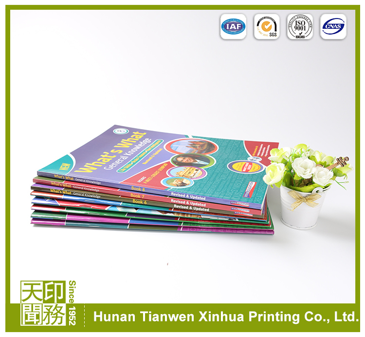 Cheap high quality color schooling textbook solution manual printing