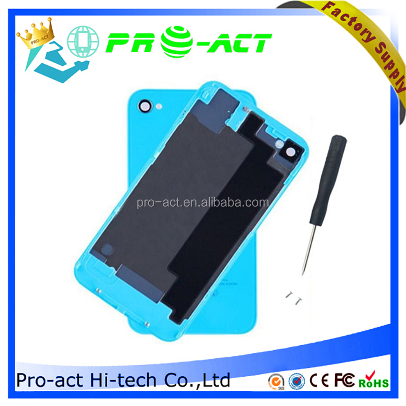 Color Back Battery Glass Cover Housing Case Replacement For iPhone 4 4S