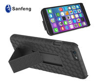 Multi-function shockproof protector cellphone case for Apple iphone 6 kickstand with belt clip