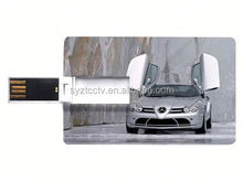 2015 hot sale high speed white credit card shaped usb pen drive
