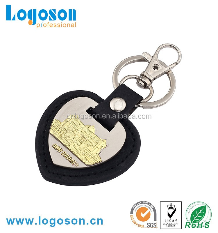 promotional wholesale dubai souvenirs items ersonalized leather keyring