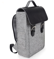 Unisex Gender 100% Natural Eco-friendly Felt Laptop Backpack