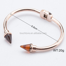 Fashion gemstone Charm Bracelets & Bangles Fashion Crystal nail Stone Bracelets For Women Friendship
