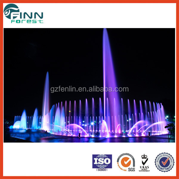 Large square lighted musical outdoor water landscape fountain