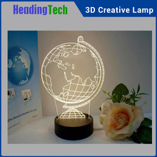Colorful 3D effective LED tablet lamp, 3D night light