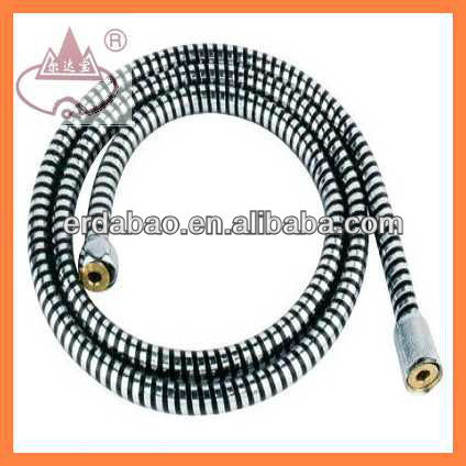 black gold concave and convex pvc shower hose