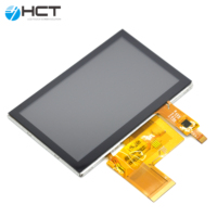 Digital RGB 24bit lcd monitor 4.3 inch tft lcd display with touch screen