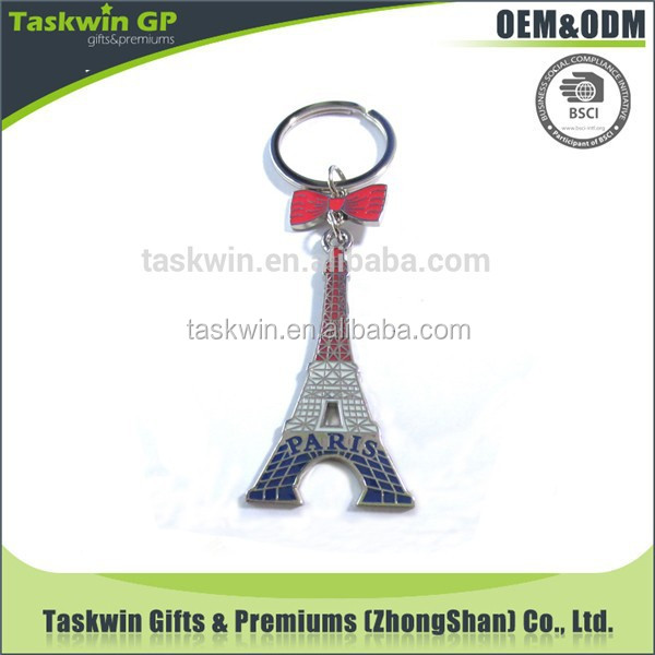 New arrival Eiffel Tower colorful keychain for souvenir/promotion gift