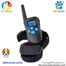 Warning Tone,Vibrate,Static shock, light Amazon best selling Remote Dog Training Collar with built in battery PET998DRB