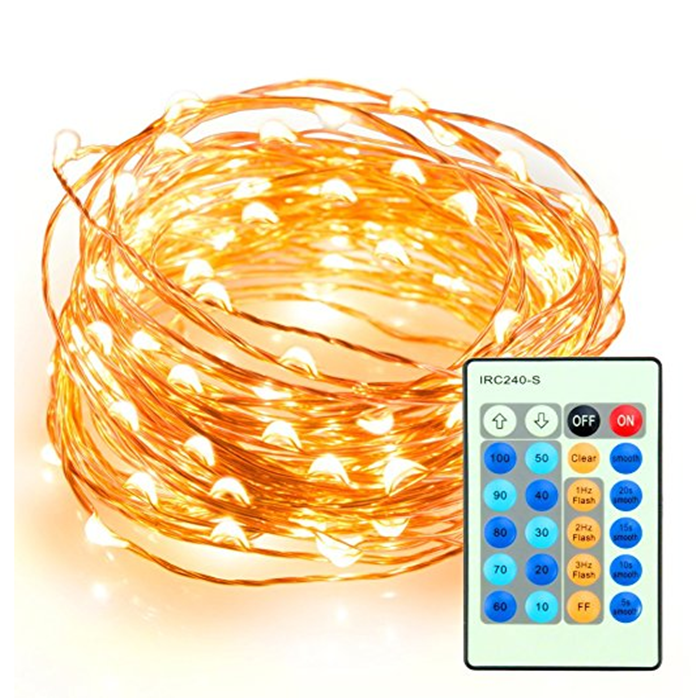 Remote Control 33ft 100 Dimmable LED String Lights