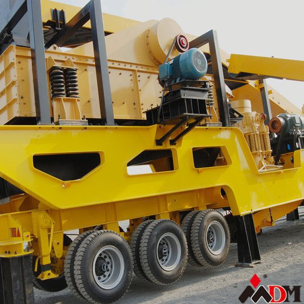 DM wheeled type bmw mobile crushing plant CE