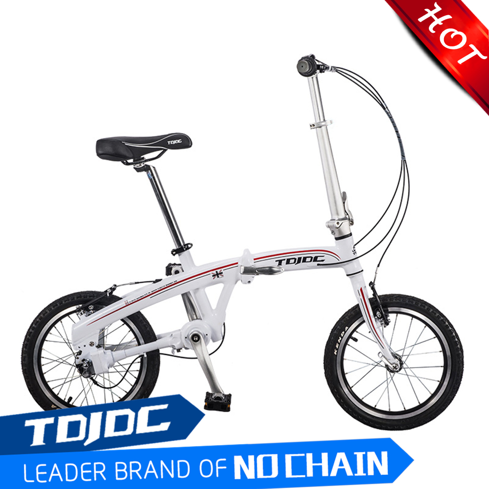 2016 NEW 16'' Inch Shaft Drive Folding Bike Bicycle For Ladies Gilrs With 6061 Aluminium <strong>Alloy</strong> Thicken and Seamless Factory Sale