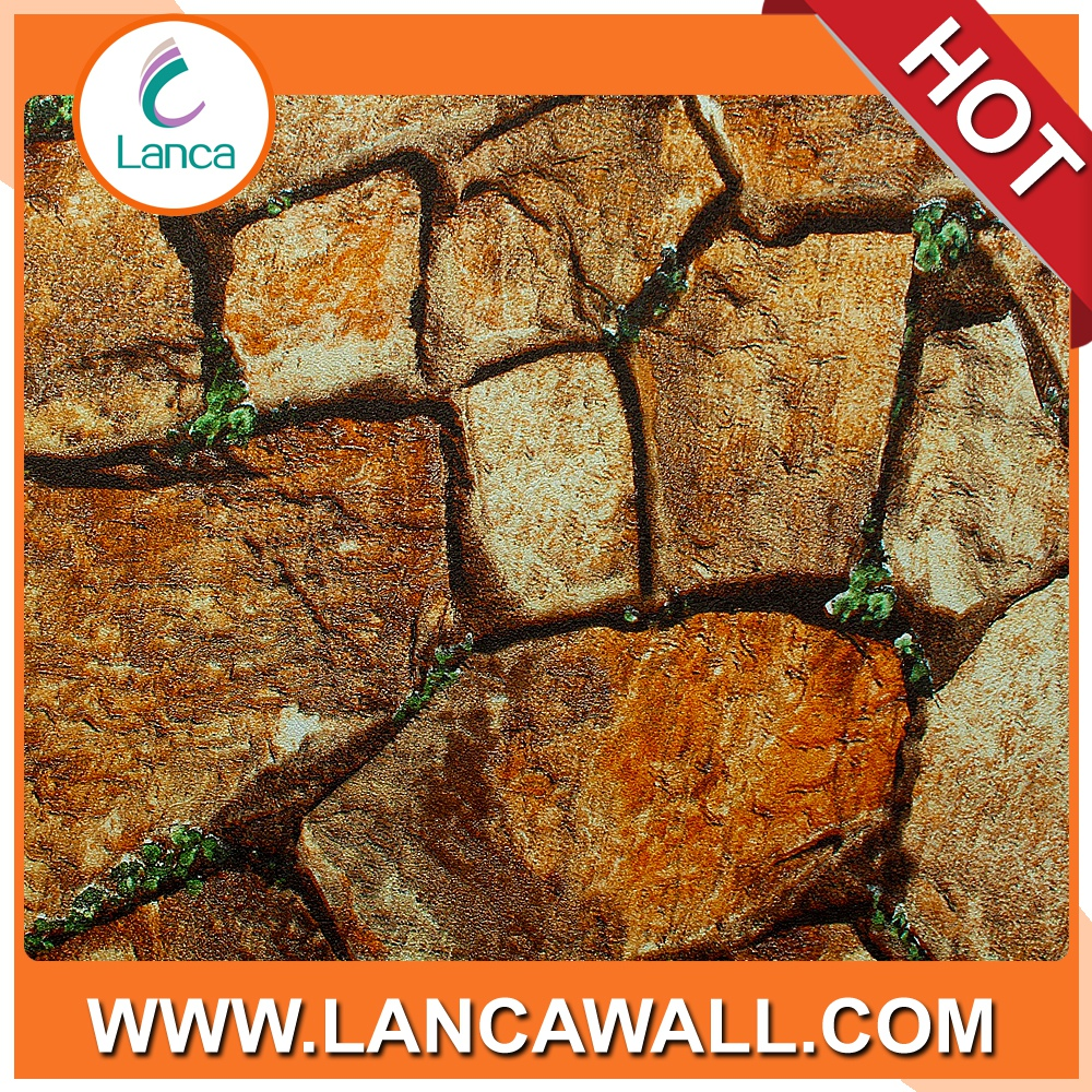 Wall art decor decorative stone wallpaper water proof vinyl wall covering panels